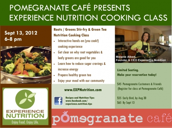 Experience Nutrition Cooking with Melanie Albert