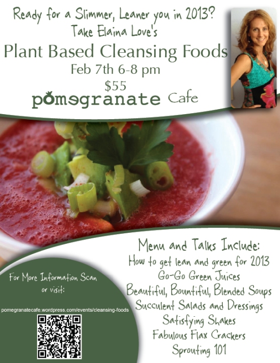 Chef Elaina Love Returns to Pomegranate Cafe for the New Year!!!