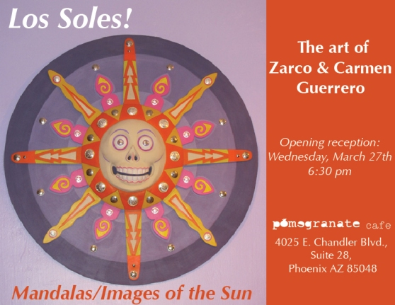 Los Soles! The art of Zarco and Carmen Guerrero at Pomegranate Cafe