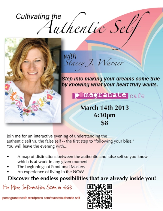 Next week at Pom: Cultivating the Authentic Self with Stacy J. Warner!